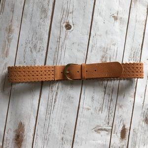 J. Crew Size Medium Perforated Leather Belt
